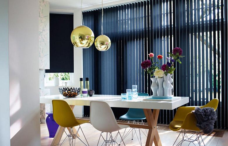 bambulinas y persianas verticales